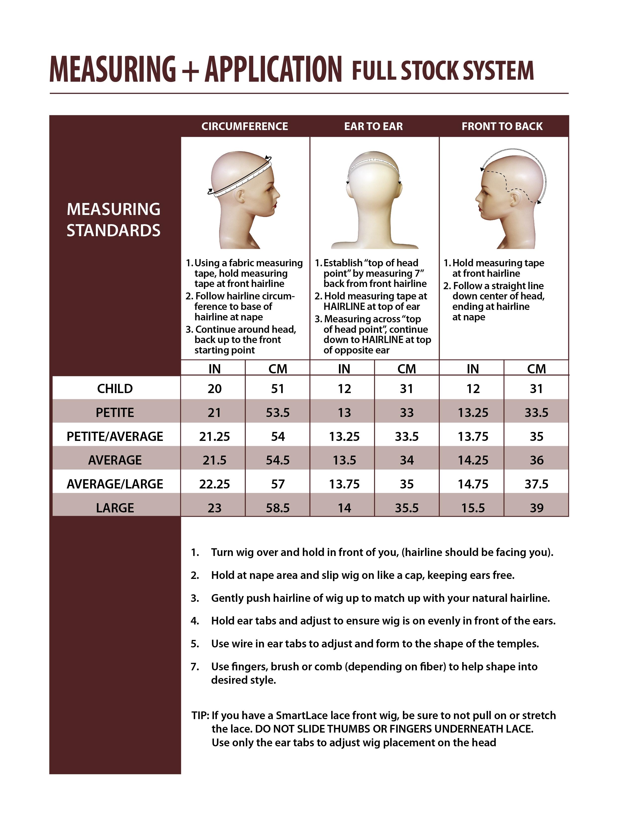 Determine Wig Size